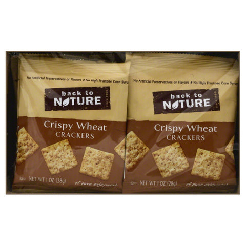Back To Nature Crispy Wheat Crackers, 8 Oz (Pack of 4)