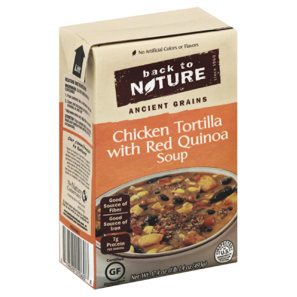 Back To Nature Chicken Tortilla with Red Quinoa Soup, 17.4 Oz (Pack of 6)