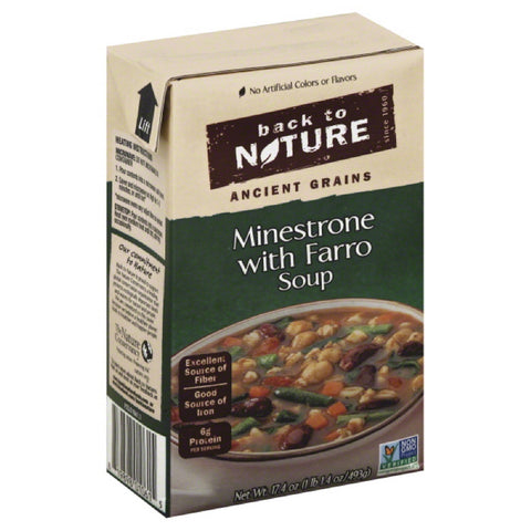 Back To Nature Minestrone with Farro Soup, 17.4 Oz (Pack of 6)