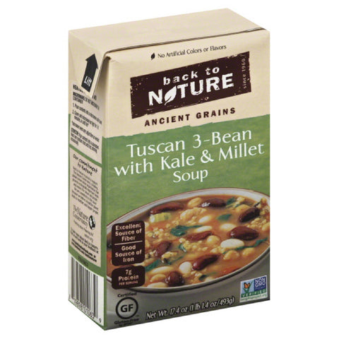 Back To Nature Tuscan 3-Bean with Kale & Millet Soup, 17.4 Oz (Pack of 6)