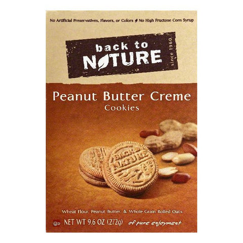 Back To Nature Peanut Butter Creme Cookies, 9.6 OZ (Pack of 6)