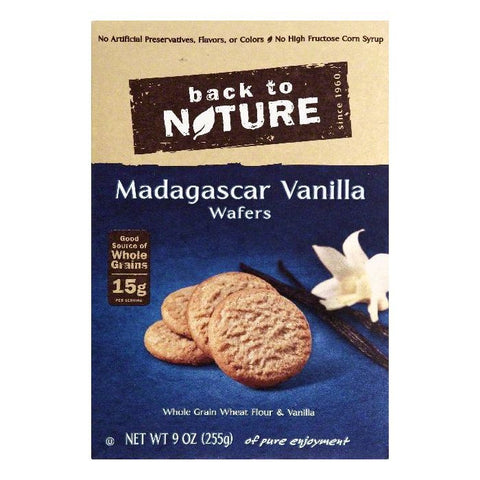 Back To Nature Madagascar Vanilla Wafers, 9 OZ (Pack of 12)