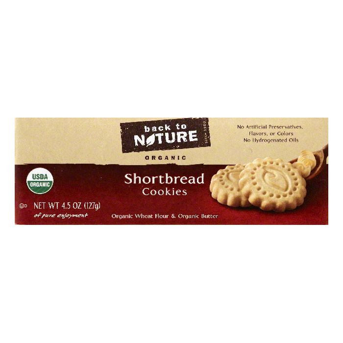 Back To Nature Shortbread Cookies, 4.5 OZ (Pack of 6)