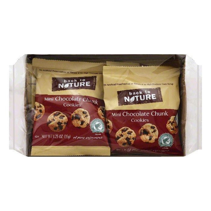 Back To Nature Mini Chocolate Chunk Cookies, 6 ea (Pack of 4)