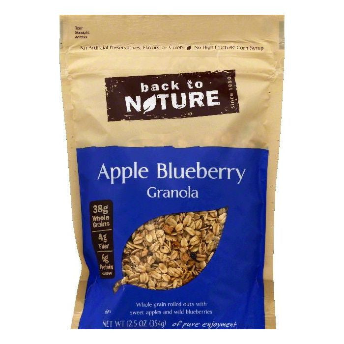 Back To Nature Apple Blueberry Granola, 12.5 OZ (Pack of 6)