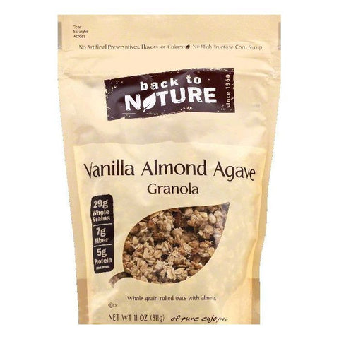 Back To Nature Vanilla Almond Agave Granola, 11 OZ (Pack of 6)