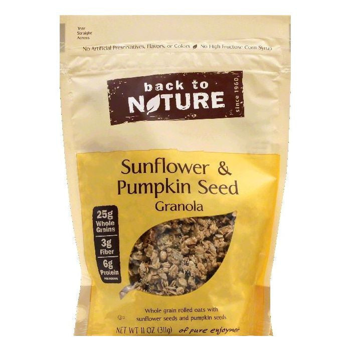 Back To Nature Sunflower & Pumpkin Seed Granola, 11 OZ (Pack of 6)