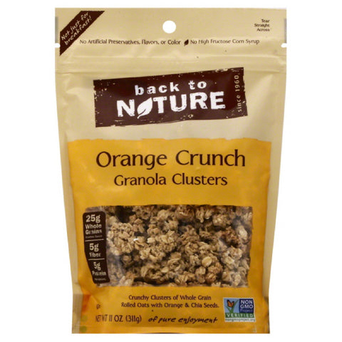 Back To Nature Orange Clusters Granola, 11 Oz (Pack of 6)