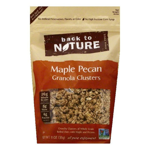 Back To Nature Maple Pecan Clusters Granola, 11 OZ (Pack of 6)
