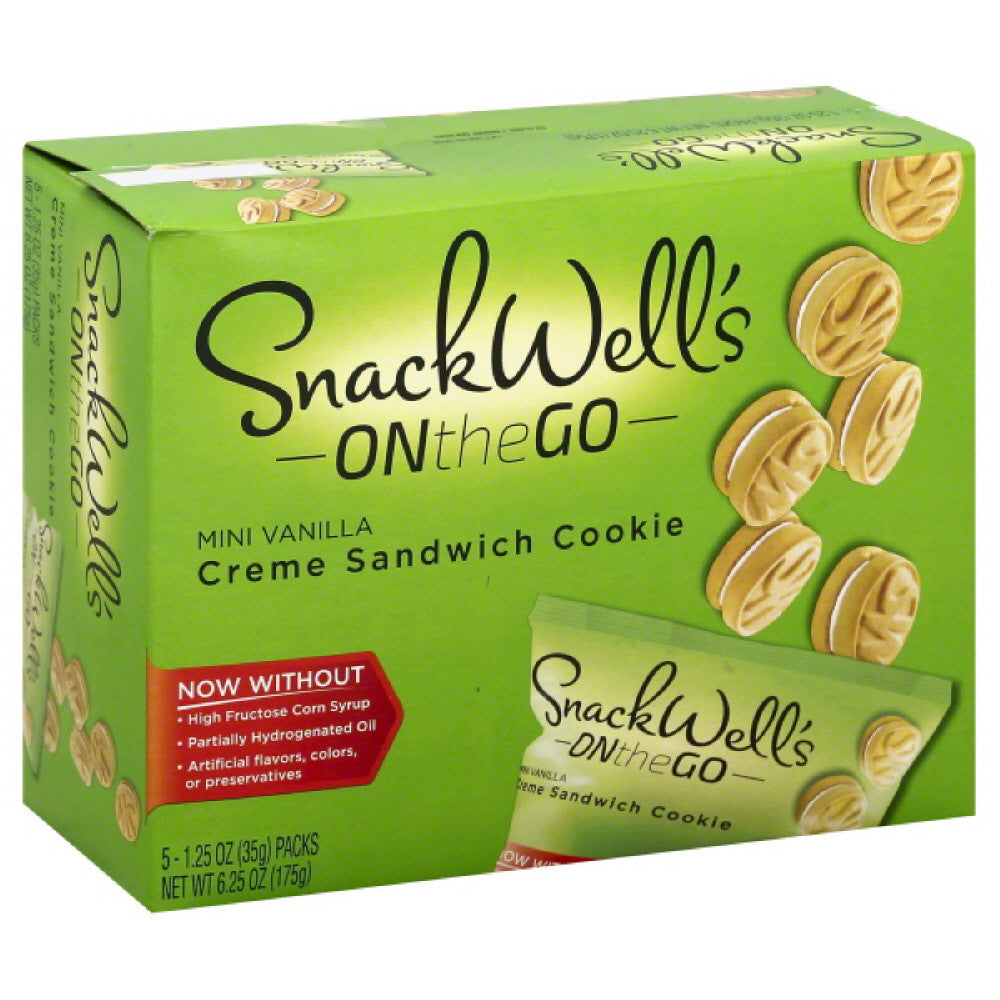 Snack Wells Mini Vanilla Creme Sandwich Cookie, 6.25 Oz (Pack of 6)