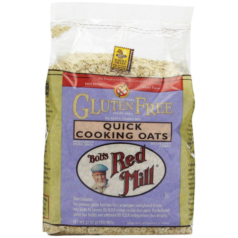 Bob's Red Mill Gluten Free Quick Cooking Oats, 32 Oz (Pack of 4)