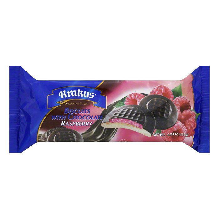 Krakus Raspberry with Chocolate Biscuits, 4.76 Oz (Pack of 21)