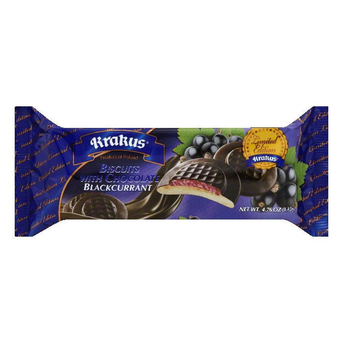 Krakus Blackcurrant with Chocolate Biscuits, 4.76 Oz (Pack of 21)