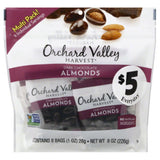 Orchard Valley Harvest Dark Chocolate Almonds, 8 Oz (Pack of 8)
