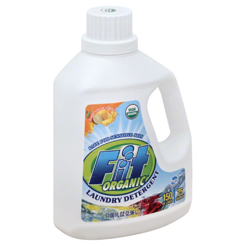 Fit Organic Fresh Citrus Scent HE Laundry Detergent, 100 Oz (Pack of 4)
