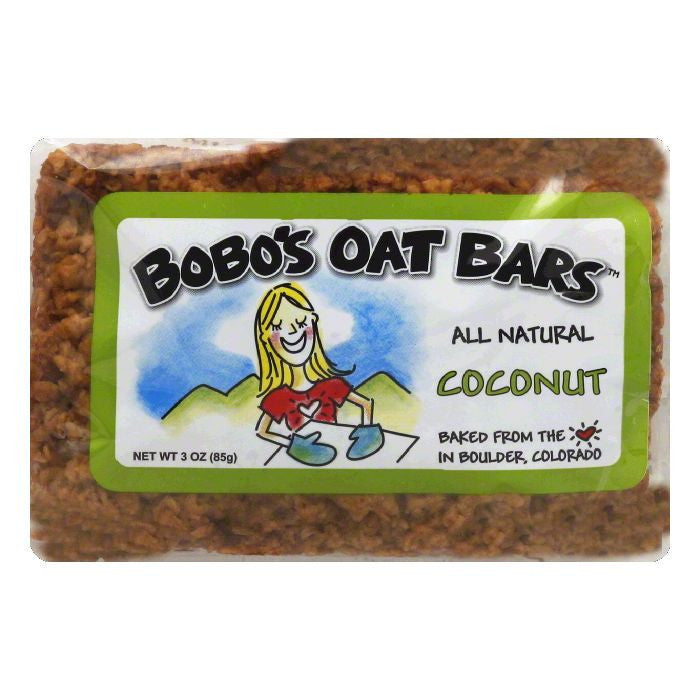 Bobos Oat Bars Coconut Oat Bar, 3 OZ (Pack of 12)