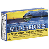 Wild Planet Wild Sardines in Extra Virgin Olive Oil with Lemon, 4.375 Oz (Pack of 12)