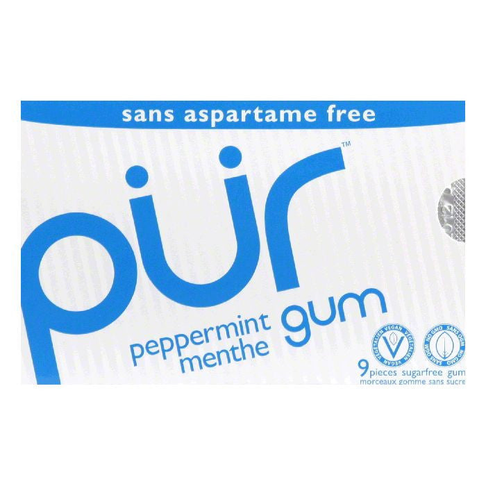 Pur Gum Gum Peppermint, 9 PC (Pack of 12)