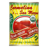 Carmelina E San Marzano Organic Italian Whole Tomatoes, 14.28 OZ (Pack of 12)