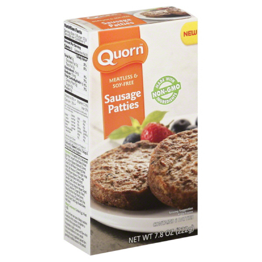 Quorn Meatless & Soy-Free Sausage Patties, 7.8 Oz (Pack of 12)