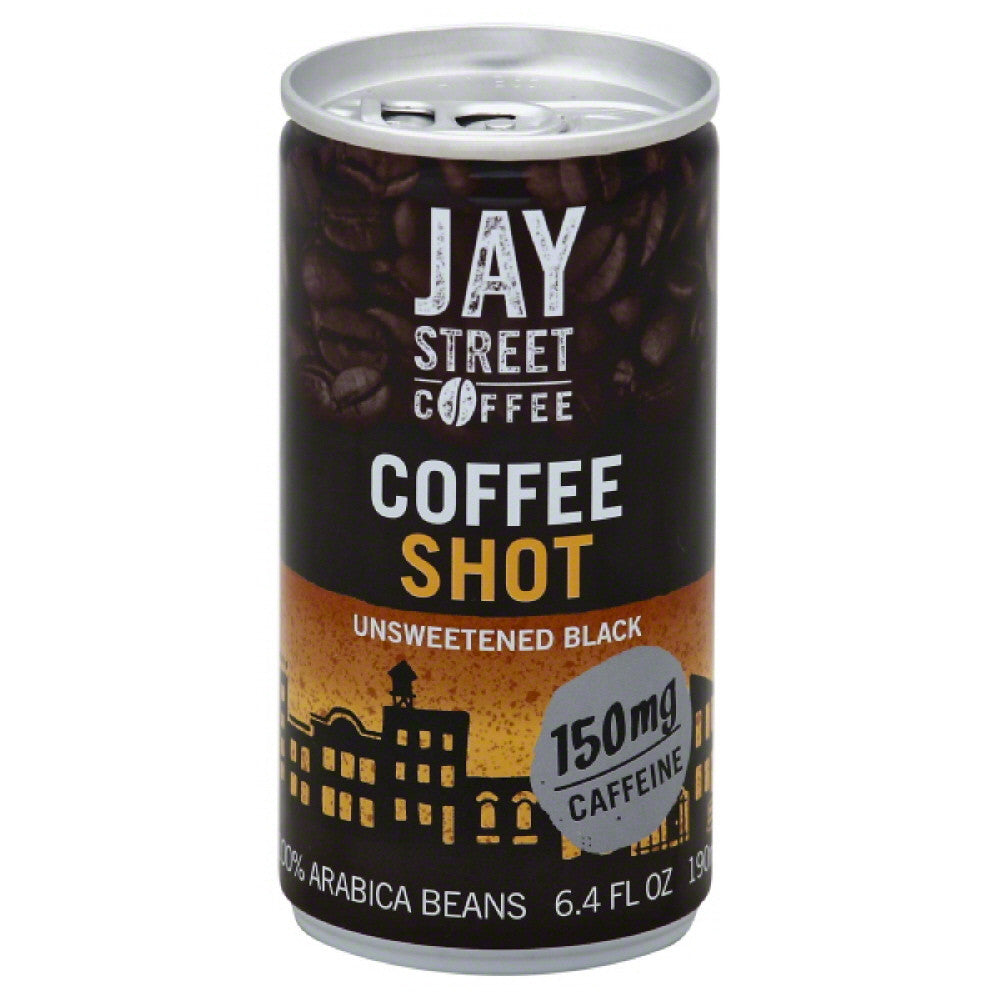 Jay Street Coffee Unsweetened Black Coffee Shot, 6.4 Fo (Pack of 20)