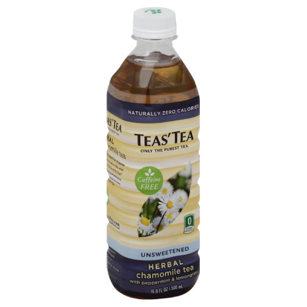 Teas Tea Caffeine Free Unsweetened Herbal Tea, 16.9 Fo (Pack of 12)