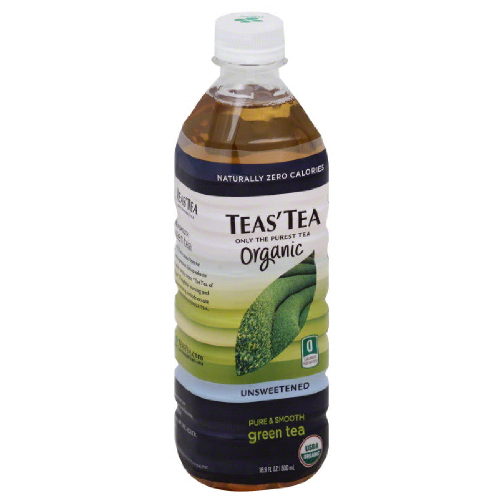 Teas Tea Organic Unsweetened Green Tea, 16.9 Fo (Pack of 12)
