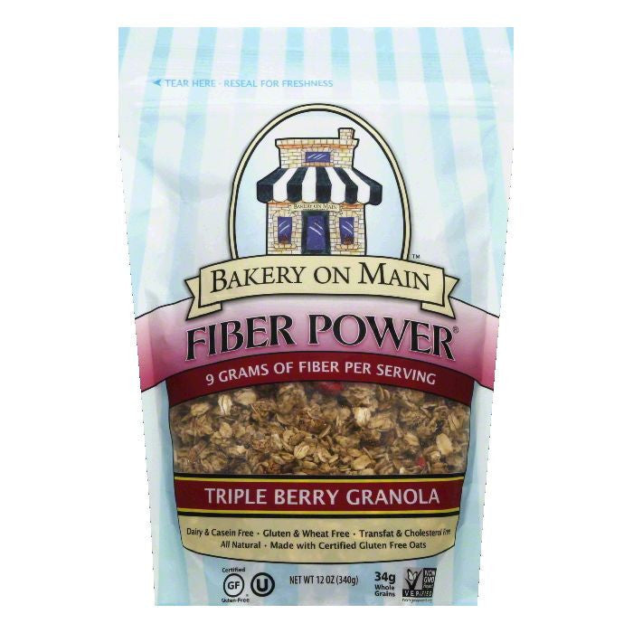 Bakery on Main Triple Berry Fiber Power Granola, 12 OZ (Pack of 6)
