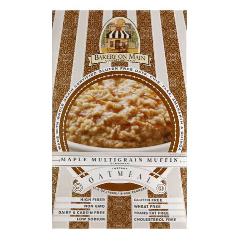 Bakery on Main Maple Multigrain Muffin Instant Oatmeal, 10.56 Oz (Pack of 6)