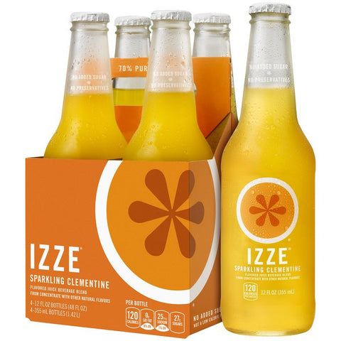 IZZE Sparkling Clementine Juice 4-12 fl. Oz s (Pack of 6)