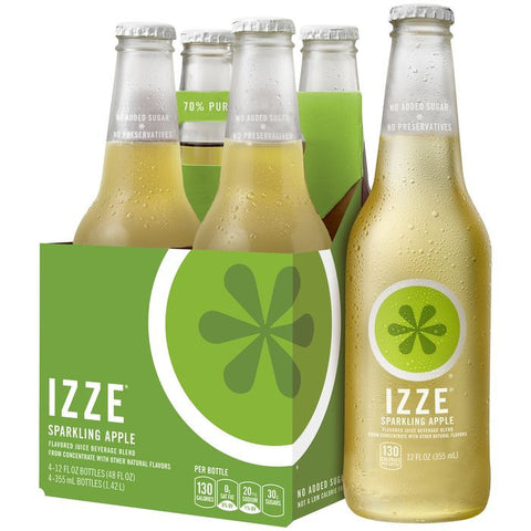 IZZE Sparkling Apple Juice 4-12 fl. Oz s (Pack of 6)