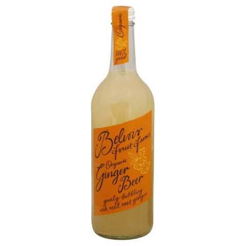 Belvoir Fruit Farms Organic Ginger Beer, 25.4 Oz (Pack of 12)