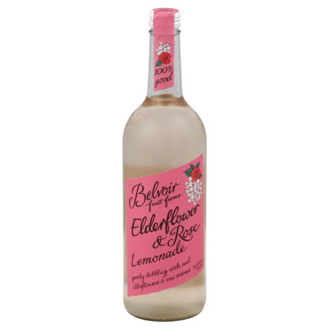 Belvoir Fruit Farms Elderflower & Rose Lemonade, 25.4 Oz (Pack of 12)