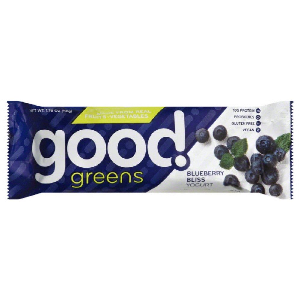 Good Greens Blueberry Bliss Yogurt Bar, 1.76 Oz (Pack of 12)