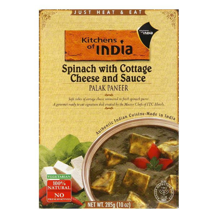 Kitchens Of India Palek Paneer, 10 OZ (Pack of 6)