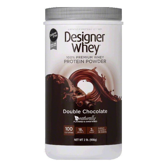 Designer Whey Double Chocolate Powder, 2 LB (Pack of 4)