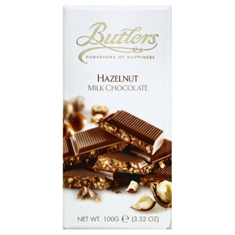 Butlers Hazelnut Milk Chocolate, 3.5 Oz (Pack of 10)