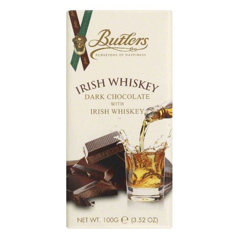 Butlers Dark Chocolate with Irish Whiskey, 3.52 OZ (Pack of 10)