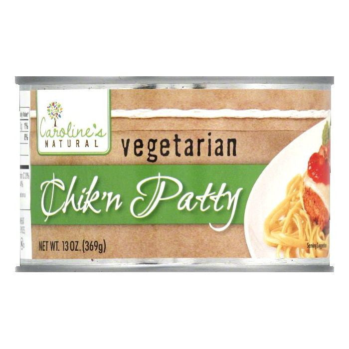 Carolines Vegetarian Chik'n Patty, 13 OZ (Pack of 12)