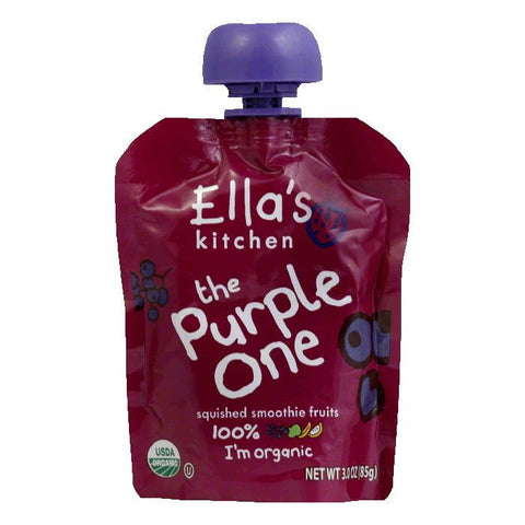 Ella's Kitchen Purple Smoothie Fruits, 3 OZ (Pack of 6)