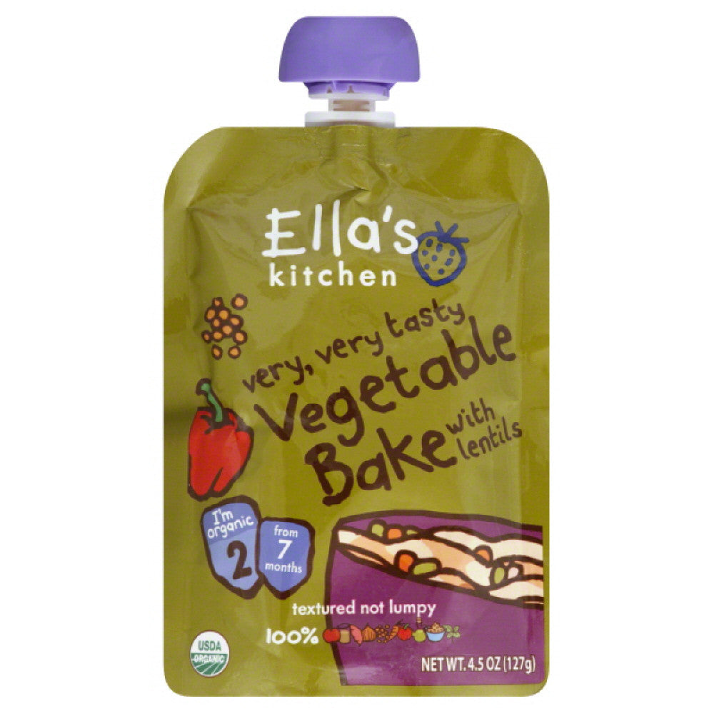 Ellas Kitchen 2 (from 7 Months) with Lentils Vegetable Bake, 4.5 Oz (Pack of 6)