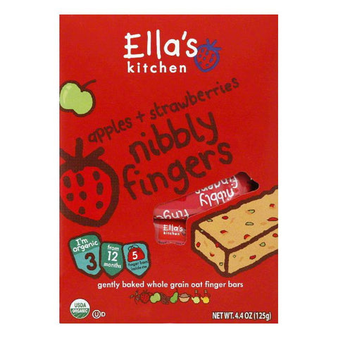 Ellas Kitchen Nibby Fingers Strawberry and Apple, 4.4 OZ (Pack of 6)