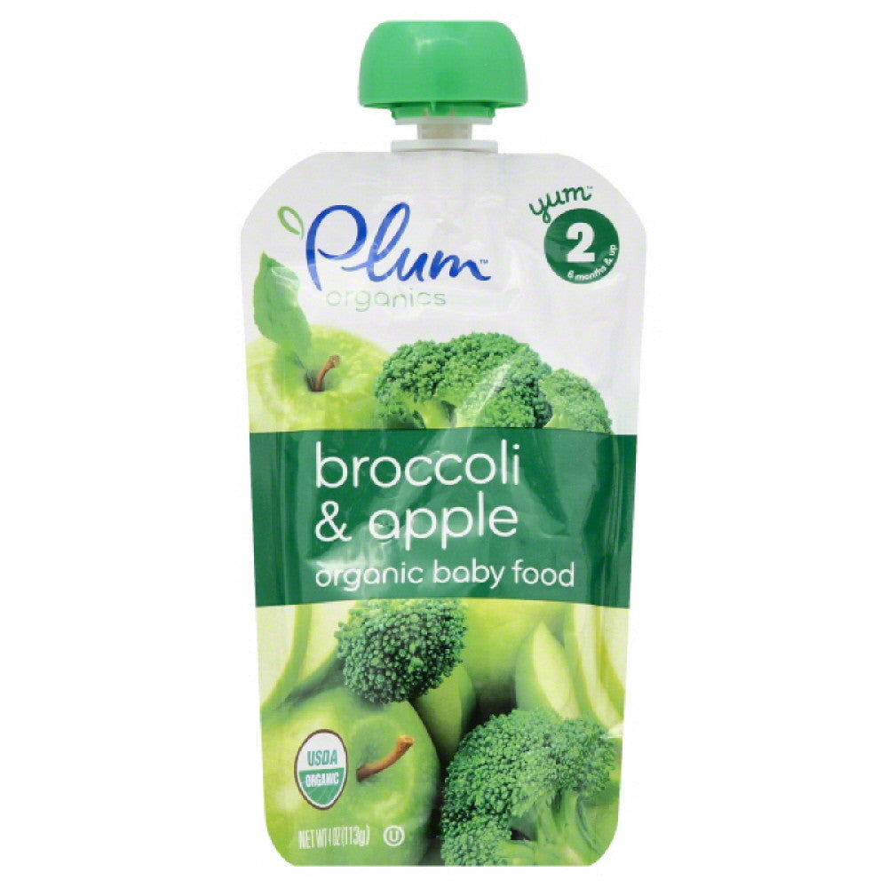 Plum 2 (6 Months & Up) Broccoli & Apple Organic Baby Food, 4.22 Oz (Pack of 6)