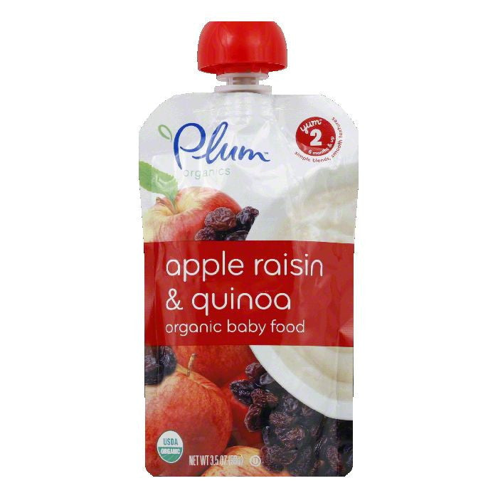 Plum Organics Baby Food Apple Raisin Quinoa, 3.5 OZ (Pack of 6)