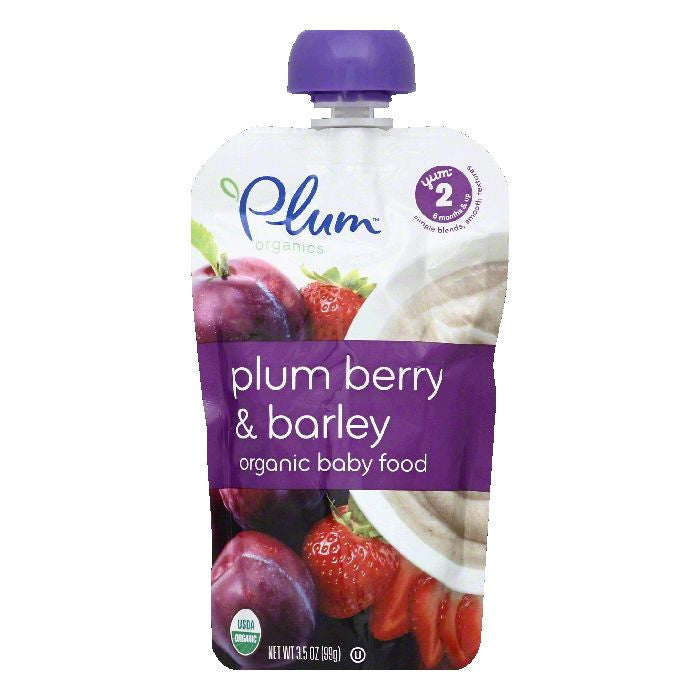 Plum Organics Baby Food Plum Berry Barley, 3.5 OZ (Pack of 6)