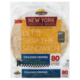 Tumaros Cracked Pepper New York Deli-Style Wraps, 4 Pc (Pack of 6)