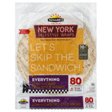 Tumaros Everything New York Deli-Style Wraps, 4 Pc (Pack of 6)