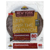 Tumaros Pumpernickel New York Deli-Style Wraps, 4 Pc (Pack of 6)