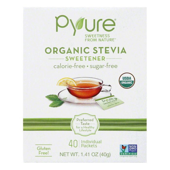 Pyure Sweetner Table Top 40Ct, 1.41 OZ (Pack of 6)