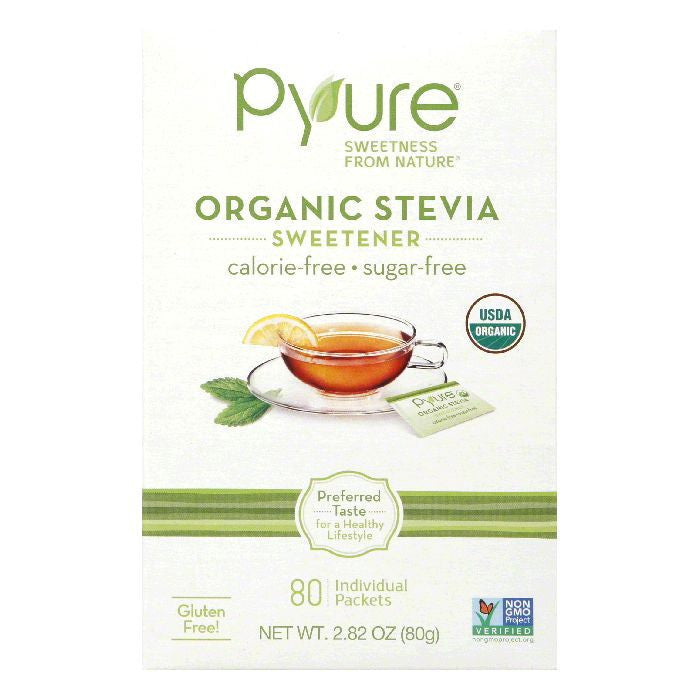 Pyure Sweetner Table Top 80Ct, 2.82 OZ (Pack of 6)